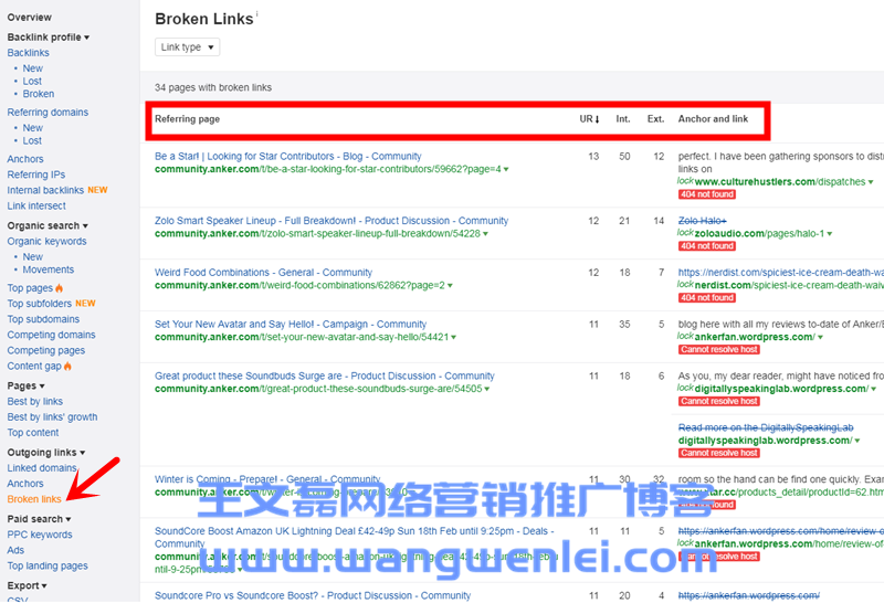 Broken-links-Ahrefs